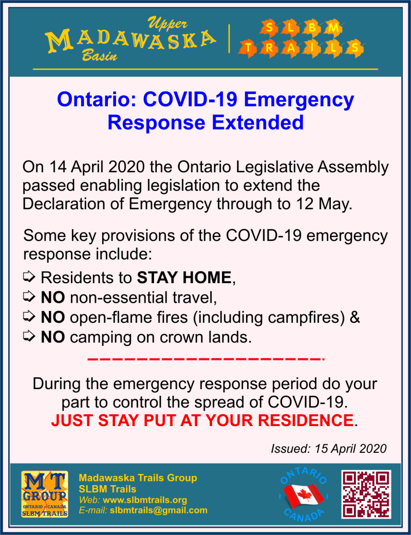 Ontario Emergency Declaration Extended