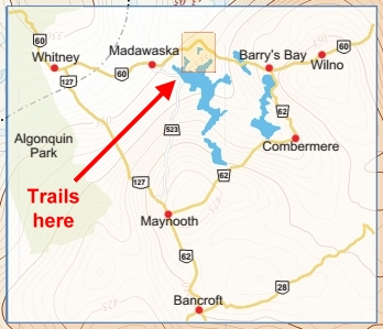 Spectacle Lakes trail location map